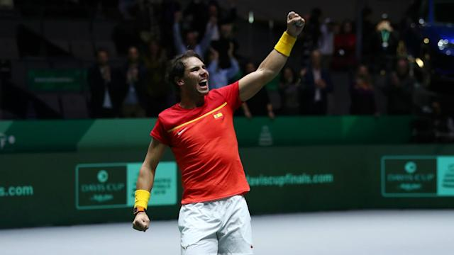 Rafael Nadal and Feliciano Lopez produced doubles heroics against a resilient British pair as Spain reached the Davis Cup final in Madrid.
