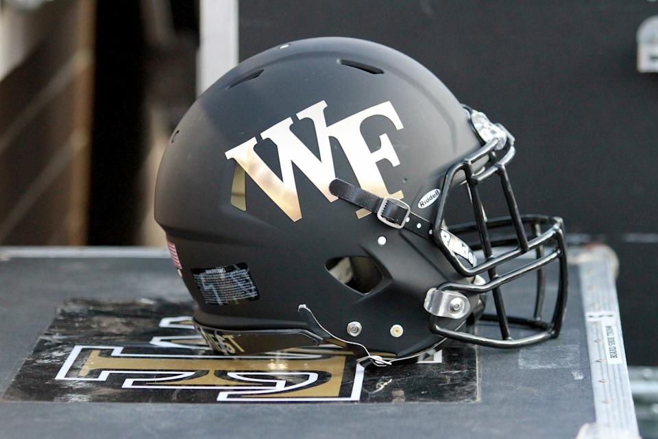 A Wake Forest helmet.