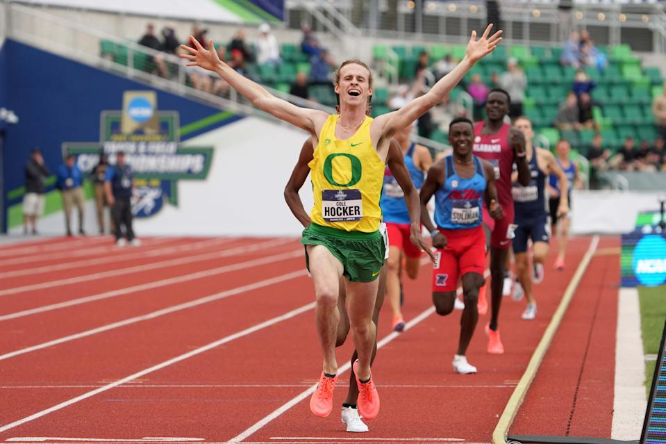Cole Hocker, a rising junior at Oregon, will represent the U.S. in Tokyo in the 1,500 meters.