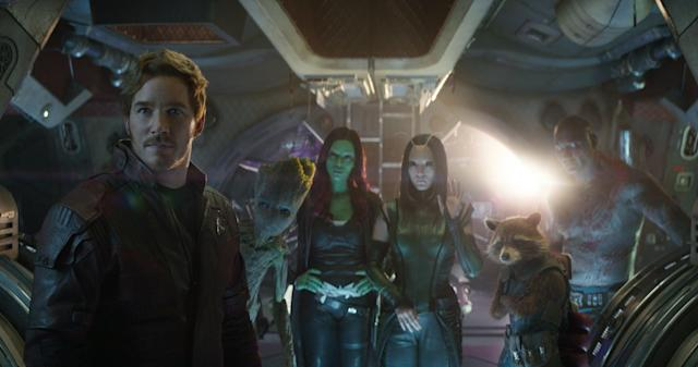 Star-Lord and the rest of the Guardians gang nearly only had minor roles in Avengers: Infinity War (Image by Marvel)