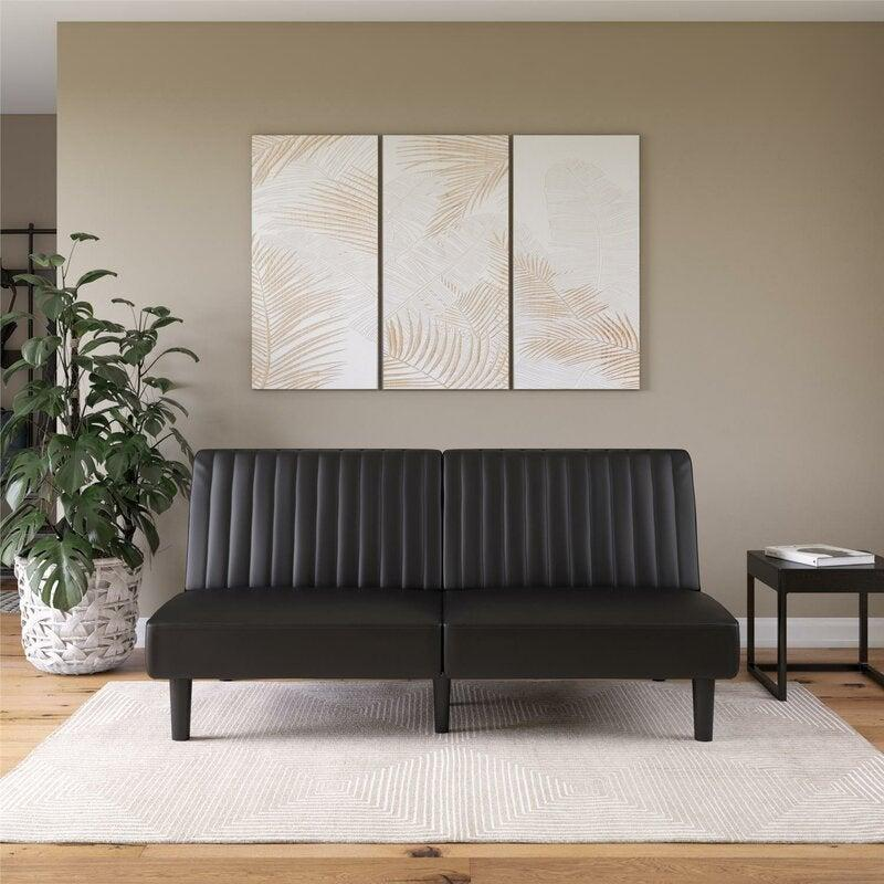 """<h2>57% Off Small Tufted Back Convertible Sofa</h2><br><strong>17 reviews 4.2 out of 5 stars</strong><br>""""I live in a small one-bedroom and the size of this sofa is perfect. Also, the back height drops down quickly, was able to let some sleep on it. They said it was comfortable.""""<br><br><em>Shop <strong><a href=""""https://www.wayfair.com/furniture/pdp/zipcode-design-strasburg-69-tufted-back-convertible-sofa-w004143965.html"""" rel=""""nofollow noopener"""" target=""""_blank"""" data-ylk=""""slk:Wayfair"""" class=""""link rapid-noclick-resp"""">Wayfair</a></strong></em><br><br><strong>Zipcode Designs</strong> 69"""" Tufted Back Convertible Sofa, $, available at <a href=""""https://go.skimresources.com/?id=30283X879131&url=https%3A%2F%2Fwww.wayfair.com%2Ffurniture%2Fpdp%2Fzipcode-design-strasburg-69-tufted-back-convertible-sofa-w004143965.html"""" rel=""""nofollow noopener"""" target=""""_blank"""" data-ylk=""""slk:Wayfair"""" class=""""link rapid-noclick-resp"""">Wayfair</a>"""