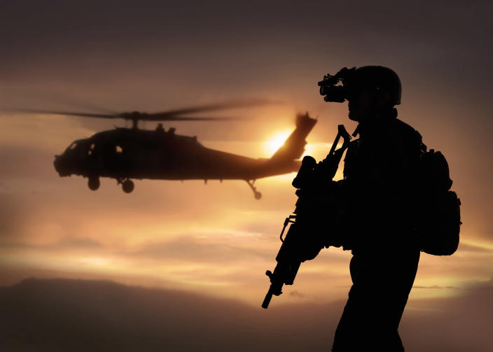 Combat ready special operation forces soldier