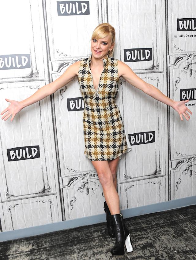 Anna Faris at Build Studio on Oct. 23 in New York City. (Photo: Getty Images)