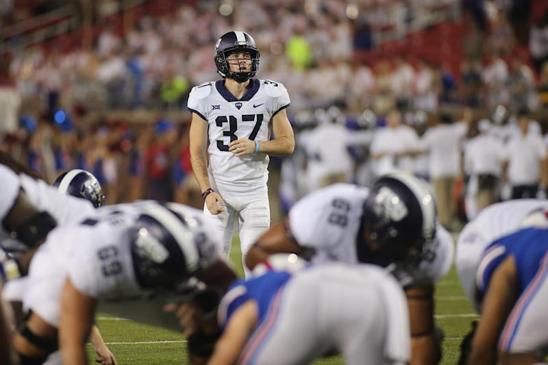 TCU kicker Cole Bunce was hit by a car while riding his scooter this week, and underwent emergency surgery.