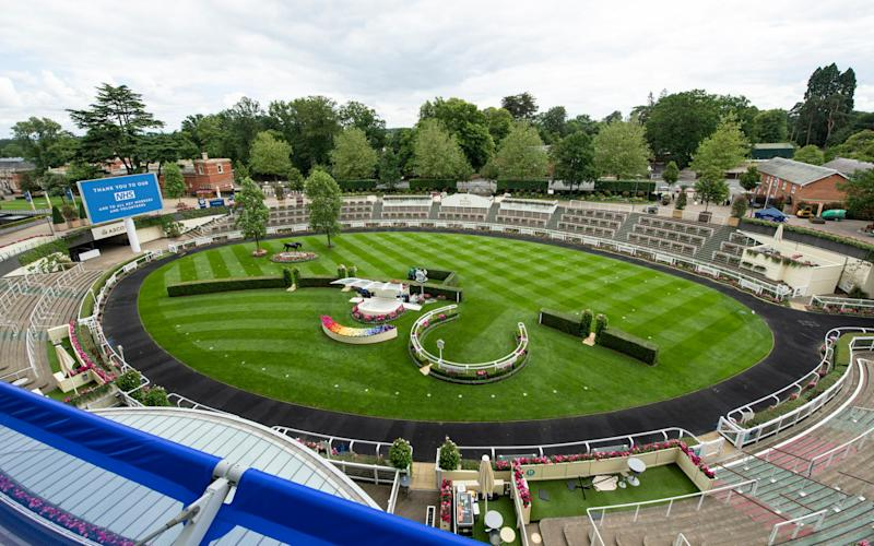 The paddock at Ascot, which will remain empty today - Getty