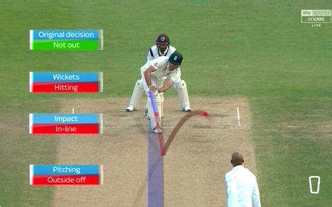 Cook lbw Chase - Credit: Sky Sports Cricket