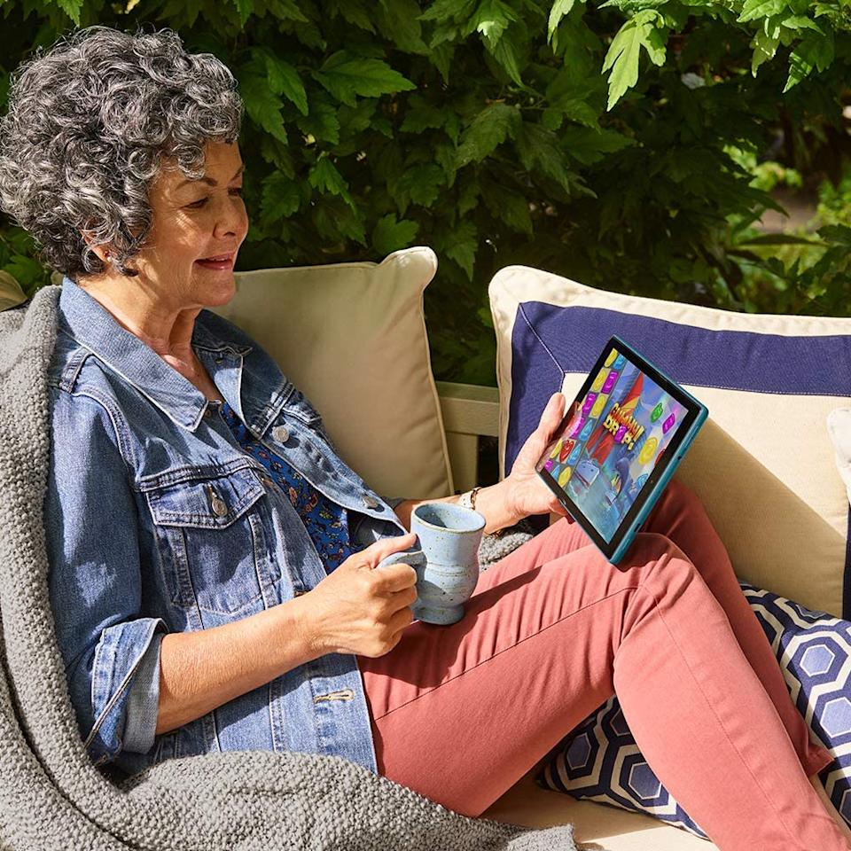 Sit back and relax with this wallet-friendly Fire HD 10 tablet. (Photo: Amazon)