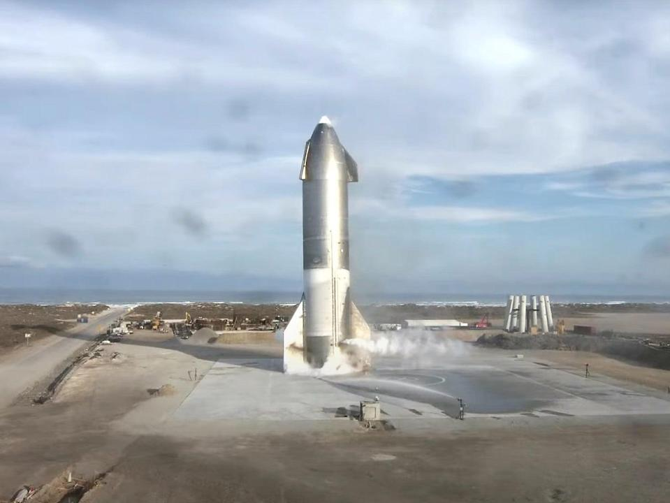 Starship SN10 exploded roughly eight minutes after appearing to land successfully (SpaceX)