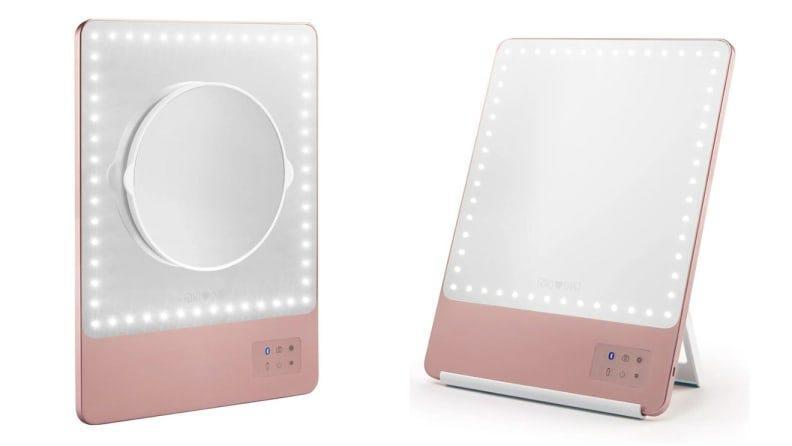 Illuminate your makeup routine with the Riki Skinny 10X Lighted Mirror.