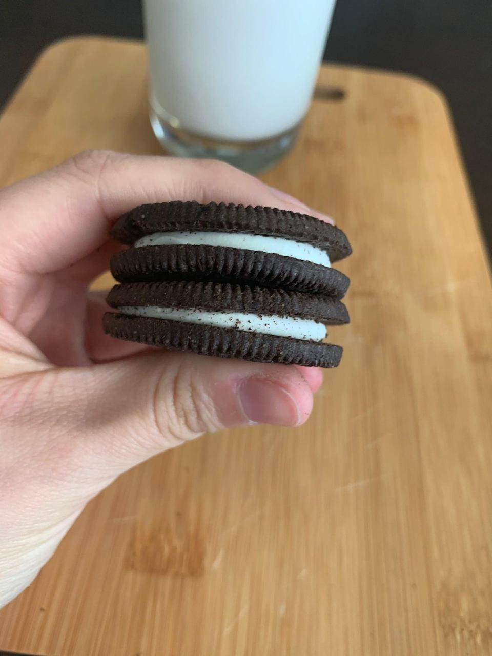 <p>For research purposes, I asked my sister (who does eat gluten) to try the cookies along with me. As someone who would put Oreos on the top of her list of favorite snacks, she agreed that the gluten-free cookies solidly pass for the real thing.</p>