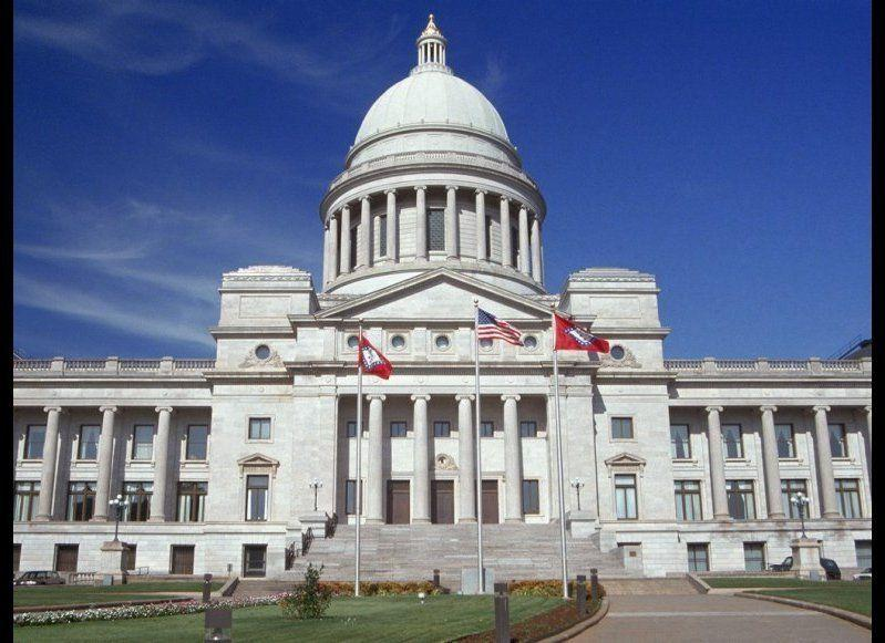 <strong>ARKANSAS STATE CAPITOL</strong> Little Rock, Arkansas <strong>Year completed:</strong> 1915 <strong>Architectural style:</strong> Neo-Classical <strong>FYI:</strong> Don't forget to look up. The rotunda of the capitol is a 17-foot-tall, 12-foot-wide brass chandelier made by Mitchell Vance and Company. Keep an eye out for decorative elements, such as an eagle perched on top of the Liberty Bell. <strong>Visit: </strong>Guided tours are offered Monday through Friday from 9 a.m. to 4 p.m. Reservations are encouraged.