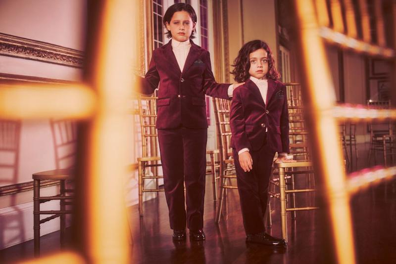 Rachel Zoe's sons for Rachel Zoe x Janie and Jack's holiday collection | Janie and Jack