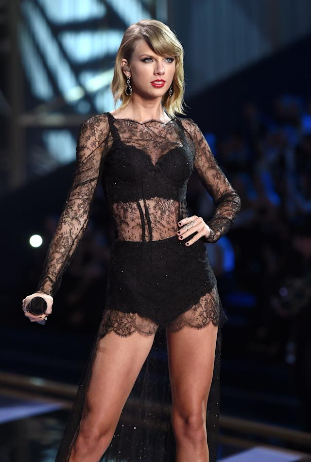 Performing at the Victoria's Secret fashion show on Dec. 2, 2014, in London.
