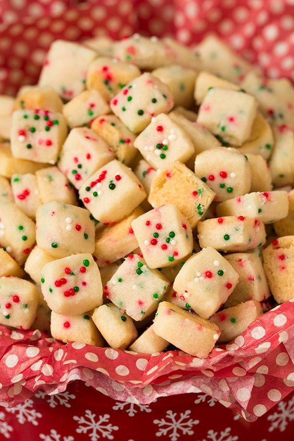 """<p>Shortbread is always a good option for Christmas, and this cube-shaped version is both easy to prepare and decorative.</p><p><strong>Get the recipe at <a href=""""http://www.cookingclassy.com/2015/12/funfetti-shortbread-bites/"""" rel=""""nofollow noopener"""" target=""""_blank"""" data-ylk=""""slk:Cooking Classy"""" class=""""link rapid-noclick-resp"""">Cooking Classy</a>.</strong></p>"""