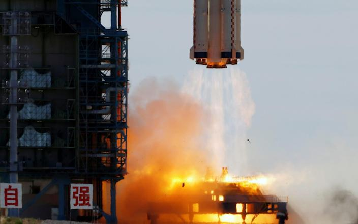 Rocket carrying the Shenzhou-12 spacecraft and three astronauts takes off from Jiuquan Satellite Launch Center - Reuters