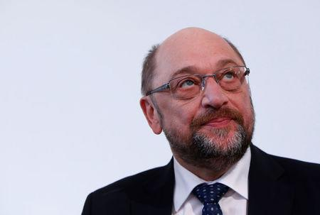 Martin Schulz, Germany's Social Democratic Party (SPD) leader, attends party meeting in 'Kloster Irsee' in Irsee, Germany, January 17, 2018.    REUTERS/Michaela Rehle