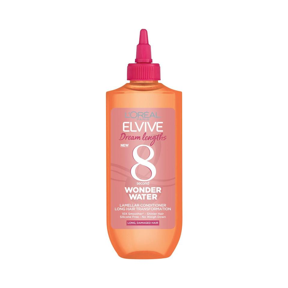 """<p><a class=""""link rapid-noclick-resp"""" href=""""https://go.redirectingat.com?id=127X1599956&url=https%3A%2F%2Fwww.superdrug.com%2FHair%2FHair-Treatments%2FConditioning-Treatments%2FL%2527Oreal-Paris-Elvive-Dream-Lengths-Wonder-Water-200ml%2Fp%2F804298&sref=https%3A%2F%2Fwww.elle.com%2Fuk%2Fbeauty%2Fg35187325%2Fnineties-revival-beauty-trend%2F"""" rel=""""nofollow noopener"""" target=""""_blank"""" data-ylk=""""slk:SHOP NOW"""">SHOP NOW</a></p><p>Turn back time to achieve pillow-soft hair, as seen at Balmain, with <a href=""""https://go.redirectingat.com?id=127X1599956&url=https%3A%2F%2Fwww.superdrug.com%2FHair%2FHair-Treatments%2FConditioning-Treatments%2FL%2527Oreal-Paris-Elvive-Dream-Lengths-Wonder-Water-200ml%2Fp%2F804298&sref=https%3A%2F%2Fwww.elle.com%2Fuk%2Fbeauty%2Fg35187325%2Fnineties-revival-beauty-trend%2F"""" rel=""""nofollow noopener"""" target=""""_blank"""" data-ylk=""""slk:L'Oreal Paris Elvive Dream Lengths 7 Second Wonder Water - £9.99"""" class=""""link rapid-noclick-resp"""">L'Oreal Paris Elvive Dream Lengths 7 Second Wonder Water - £9.99</a>. This liquid conditioner repairs damage without weighing hair down. Swish away. </p>"""
