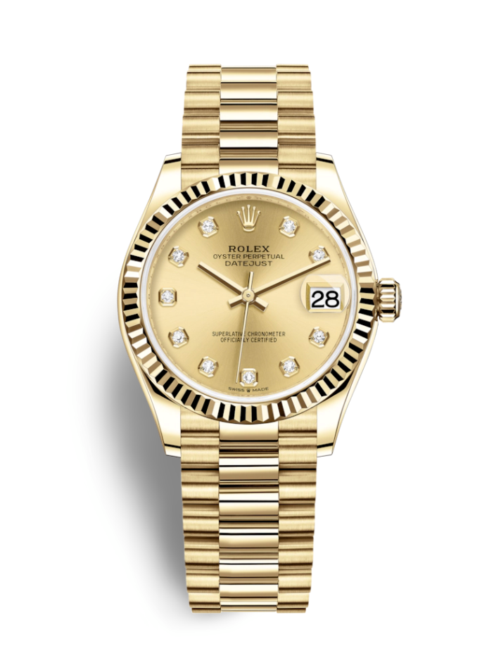 """<p><strong>Rolex</strong></p><p>rolex.com</p><p><a href=""""https://www.rolex.com/watches/datejust/m278278-0009.html"""" target=""""_blank"""">Shop Now</a></p><p>Almost everyone's initial reaction to a """"luxury watch"""" is a Rolex. The Swiss manufacturer has been in business since 1905, and they come with a hefty price tag worth the investment— their watches are famous for retaining their value over time. When beauties like this 18k gold Datejust exist, you can understand why it costs almost $30,000. Kind of. </p>"""
