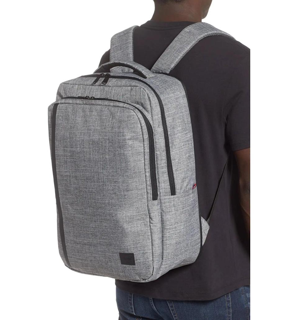 <p>The <span>Herschel Travel Backpack</span> ($78, originally $130) has compartments for tech gear, books, and more.</p>