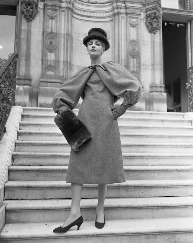 A model wearing a wool design by Givenchy.