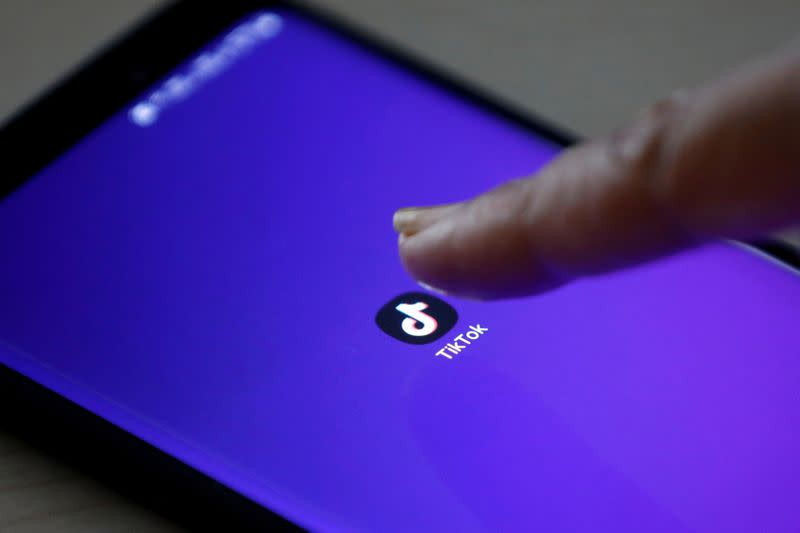 FILE PHOTO: FILE PHOTO: The TikTok app's logo seen on a mobile phone screen in this picture illustration