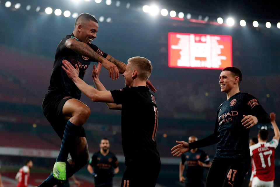 <p>Manchester City are through to the Carabao Cup semi-finals once again</p> (AFP via Getty Images)