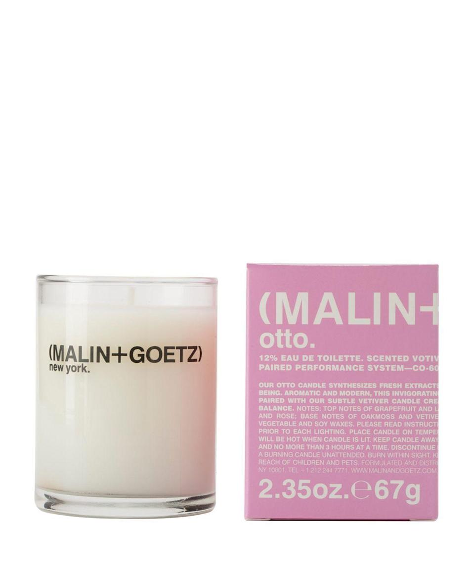 "<p><strong>MALIN+GOETZ</strong></p><p>bloomingdales.com</p><p><strong>$20.00</strong></p><p><a href=""https://go.redirectingat.com?id=74968X1596630&url=https%3A%2F%2Fwww.bloomingdales.com%2Fshop%2Fproduct%2Fmalingoetz-otto-votive-candle%3FID%3D948954&sref=https%3A%2F%2Fwww.redbookmag.com%2Flife%2Fg32720282%2Fbest-candles%2F"" rel=""nofollow noopener"" target=""_blank"" data-ylk=""slk:Shop Now"" class=""link rapid-noclick-resp"">Shop Now</a></p><p>You may know MALIN+GOETZ for their skincare products, but you should also be using the brand to zhuzh up your space. This candle burns in layers with cardamom, clove and black pepper to start before blossoming into a floral fragrance featuring a mix of peony, rose and geranium.</p>"