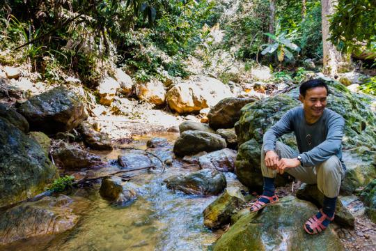 """<p>Ho Khanh is the local man who discovered Hang Son Doong. We were lucky enough to have him join us on our expedition. <i>(Photo: Alesha Bradford /<a href=""""http://www.nomadasaurus.com/"""">NOMADasaurus</a>)</i><br /></p>"""