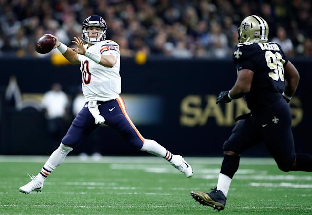 Many Chicago Bears fans want to see quarterback Mitch Trubisky benched, but not Matt Nagy.