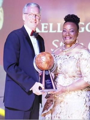 Photo (L to R) Steve Cahillane, Chairman and CEO, Kellogg Company; Dr. Bernice A. King, CEO, The King Center
