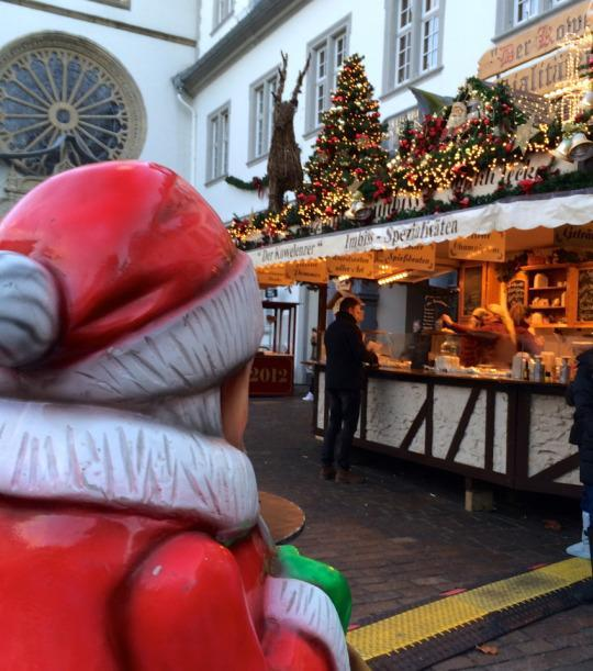 <p>Koblenz puts on a really charming Christmas market that was not too crowded when we arrived in the afternoon. Although it is close to the church, it is not overpowered by a magnificent cathedral, but instead has an old-fashioned feel that helps it blend into the surrounding town perfectly.</p>
