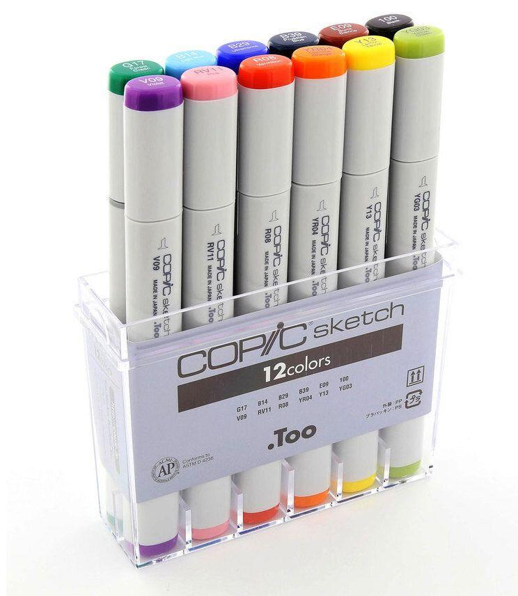 "There really is no better duo than Copic markers and a Moleskine. It's a match made in heaven. Get it for $87.96 at <a href=""https://www.amazon.ca/Copic-Markers-12-Piece-Basic-Set/dp/B000MRSUKS"" target=""_blank"" rel=""noopener noreferrer"">Amazon.ca</a>."