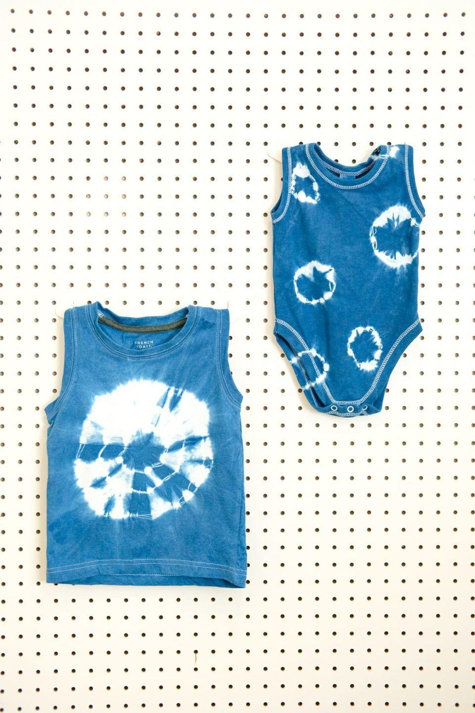 """<p>Instead of playing games, get crafty with a DIY tie-dye station. Just be sure to have some smocks and gloves around to prevent dye from staining hands and clothes. </p><p><a class=""""link rapid-noclick-resp"""" href=""""https://lovelyindeed.com/diy-shibori-dyed-kids-clothes/"""" rel=""""nofollow noopener"""" target=""""_blank"""" data-ylk=""""slk:GET THE TUTORIAL"""">GET THE TUTORIAL</a></p><p><a class=""""link rapid-noclick-resp"""" href=""""https://www.amazon.com/Rit-Dye-Liquid-Fabric-8-Ounce/dp/B002766FGI/ref=sxts_sxwds-bia-wc-p13n2_0?cv_ct_cx=rit+dye&dchild=1&keywords=rit+dye&pd_rd_i=B002766FGI&pd_rd_r=e14d1ee0-e7f6-4674-9d9e-c2c800f30cb0&pd_rd_w=AZlQO&pd_rd_wg=6k425&pf_rd_p=1da5beeb-8f71-435c-b5c5-3279a6171294&pf_rd_r=V9D4NYSZEBEVAAR3HDB6&psc=1&qid=1591664893&sr=1-2-70f7c15d-07d8-466a-b325-4be35d7258cc&tag=syn-yahoo-20&ascsubtag=%5Bartid%7C10072.g.32715018%5Bsrc%7Cyahoo-us"""" rel=""""nofollow noopener"""" target=""""_blank"""" data-ylk=""""slk:SHOP DYE"""">SHOP DYE</a></p>"""