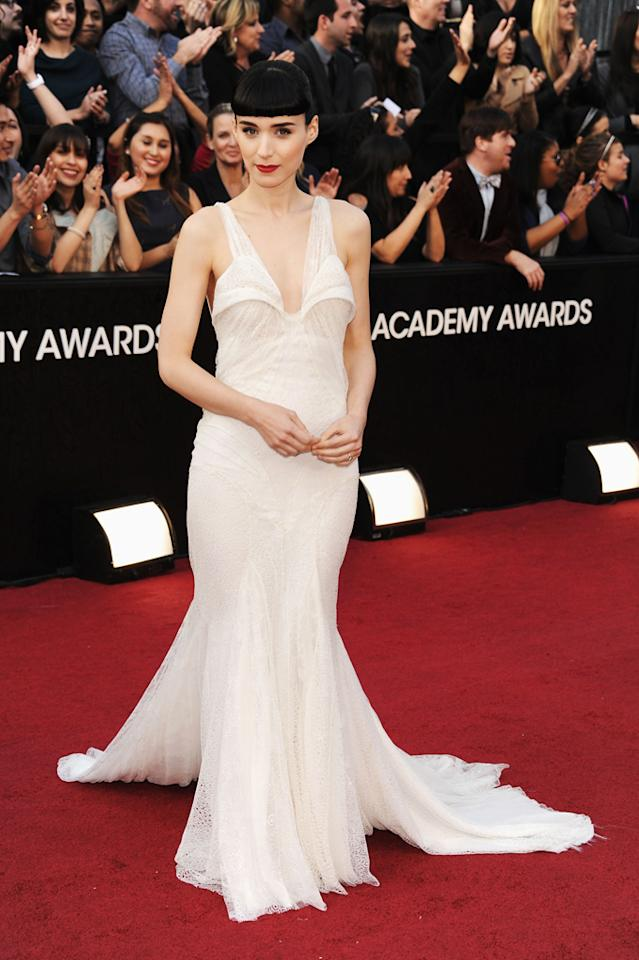 Rooney Mara arrives at the 84th Annual Academy Awards in Hollywood, CA.