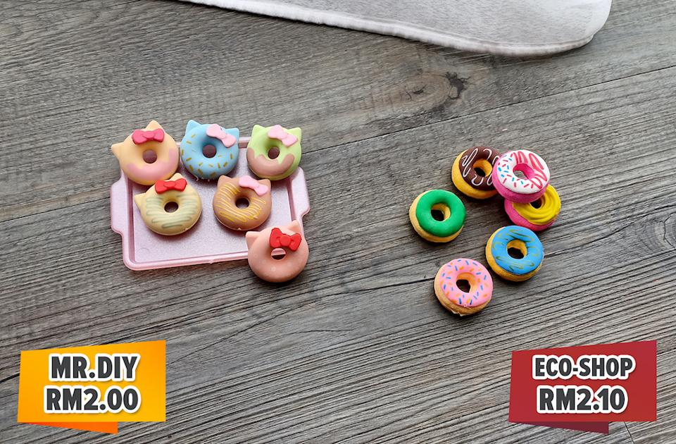 These doughnut erasers are perfect for sharing with classmates and kids can have fun collecting the various designs.