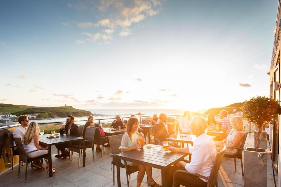 """<p>Check into the beachside boutique hotel for grownup glamour, cocktails on the oceanside terrace, and the chance to discover the bustling town of Bude. </p><p>The 16 bedrooms are decked out in a contemporary New England style, and are just a stone's throw from the golden sands of Summerleaze Beach. Although it does have a funky vibe, it is family-friendly as well as being a welcoming spot for four-legged friends.</p><p><a href=""""https://www.goodhousekeepingholidays.com/offers/cornwall-bude-the-beach-at-bude"""" rel=""""nofollow noopener"""" target=""""_blank"""" data-ylk=""""slk:Read our review of The Beach at Bude."""" class=""""link rapid-noclick-resp"""">Read our review of The Beach at Bude.</a></p><p><a class=""""link rapid-noclick-resp"""" href=""""https://go.redirectingat.com?id=127X1599956&url=https%3A%2F%2Fwww.booking.com%2Fhotel%2Fgb%2Fthe-beach-at-bude.en-gb.html%3Faid%3D1922306%26label%3Dbeach-hotels-uk&sref=https%3A%2F%2Fwww.goodhousekeeping.com%2Fuk%2Flifestyle%2Ftravel%2Fg34584524%2Fbeach-hotels-uk%2F"""" rel=""""nofollow noopener"""" target=""""_blank"""" data-ylk=""""slk:CHECK AVAILABILITY"""">CHECK AVAILABILITY</a></p>"""