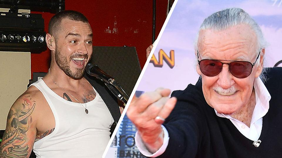 Matt Willis and Stan Lee both appear in Madness In The Method. (Dave J Hogan/Getty Images for Warner Music & Steve Granitz/WireImage)