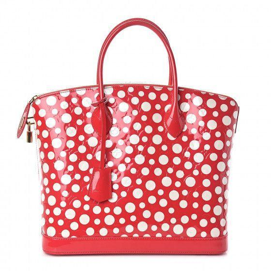 """<p><strong>Louis Vuitton</strong></p><p>fashionphile.com</p><p><strong>$2295.00</strong></p><p><a href=""""https://www.fashionphile.com/louis-vuitton-vernis-kusama-dots-infinity-lockit-mm-red-525547"""" rel=""""nofollow noopener"""" target=""""_blank"""" data-ylk=""""slk:Shop Now"""" class=""""link rapid-noclick-resp"""">Shop Now</a></p><p><strong><em>Sarah Davis, founder</em></strong></p><p><strong>About Fashionphile: </strong>Fashionphile is CarMax for ultra-luxury accessories. We pay up front for the Louis Vuitton, Gucci, and Chanel investments that you've got sitting in your closets. Fashionphile takes old-school consignment and adds immediate pay and technology to bring scale to resale. Our platform makes buying luxury more accessible to a broader audience than ever.</p><p><strong>On how to purchase a secondhand designer bag: </strong>We've seen a noticeable trend in consumers who are more conscientious and educated. They're not only searching for more sustainable options, but they're actually looking at their purchases as investments. This is something we've done for decades when buying cars. We'll buy better, and maybe even more expensive cars because the resale value is higher. </p><p>Now, more than ever, people are shopping ultra luxury with resale in mind. They'll heavily weigh their selection on the resale value of the item they're buying. An investment-minded shopper will be looking at legacy brands that do not discount or discount lightly. They'll be shopping in staple colors and more classic styles. Many of these shoppers recognize that buying pre-owned is essentially getting a discount for letting someone else drive it off the lot. The resale price at this point will be fairly stable and may even increase over time. Either way, the conscientious shopper is researching before she makes that investment in luxury accessories of all kinds.</p>"""