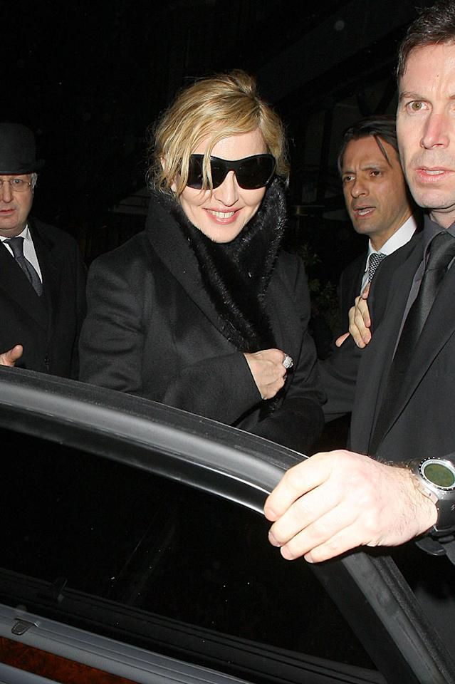 """She's 13 years younger than Ms. Mirren, and Madonna, out in London, doesn't look quite as good in real life as she does in her Dolce & Gabbana ads. Madge was one of the many performers who contributed to the <i>Hope for Haiti Now</i> album. The charity effort debuted at No. 1 and has currently raised more than $3 million in relief funds. Smart Pictures/<a href=""""http://www. PacificCoastNews.com"""" target=""""new"""">PacificCoastNews.com</a> - January 26, 2010"""