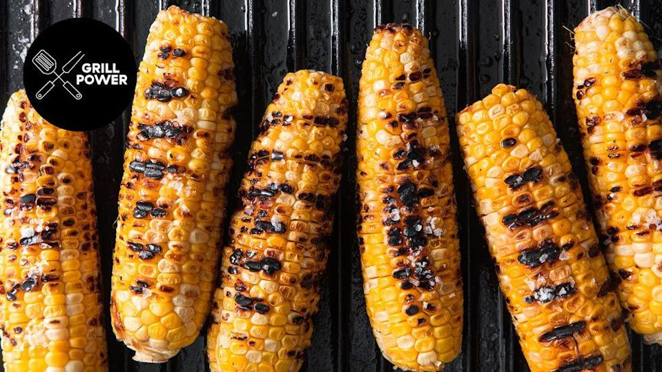 "<p>Gotta get those char marks. </p><p>Get the recipe from <a href=""https://www.delish.com/cooking/recipe-ideas/a19637515/best-grilled-corn-on-the-cob-recipe/"" rel=""nofollow noopener"" target=""_blank"" data-ylk=""slk:Delish"" class=""link rapid-noclick-resp"">Delish</a>.</p>"