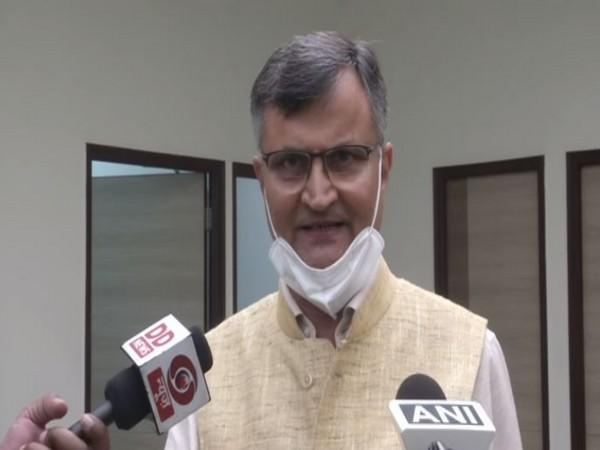 Dr Ramesh Chand, Member, Niti Aayog speaking to reporters on Tuesday. Photo/ANI