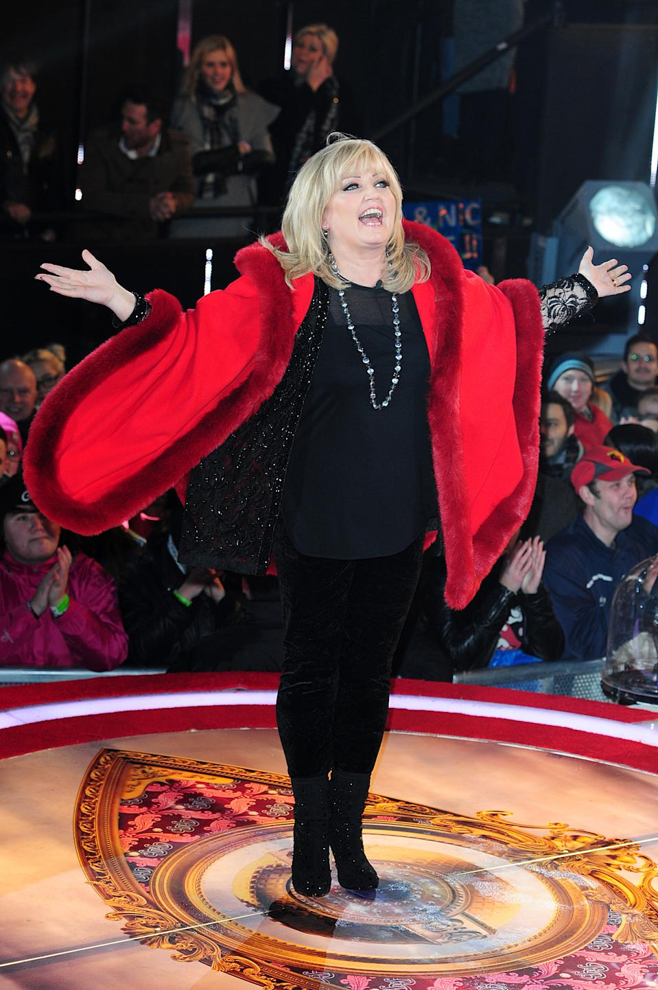 Linda Nolan arriving at the Celebrity Big Brother House, Elstree Studios, Hertfordshire.   (Photo by Ian West/PA Images via Getty Images)
