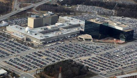 An aerial view of the National Security Agency headquarters in Ft. Meade, Maryland