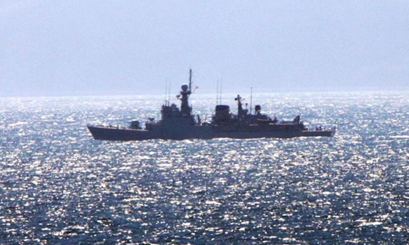 The Spanish vessel Infanta Cristina which was ordered out of British territorial waters off Gibraltar.