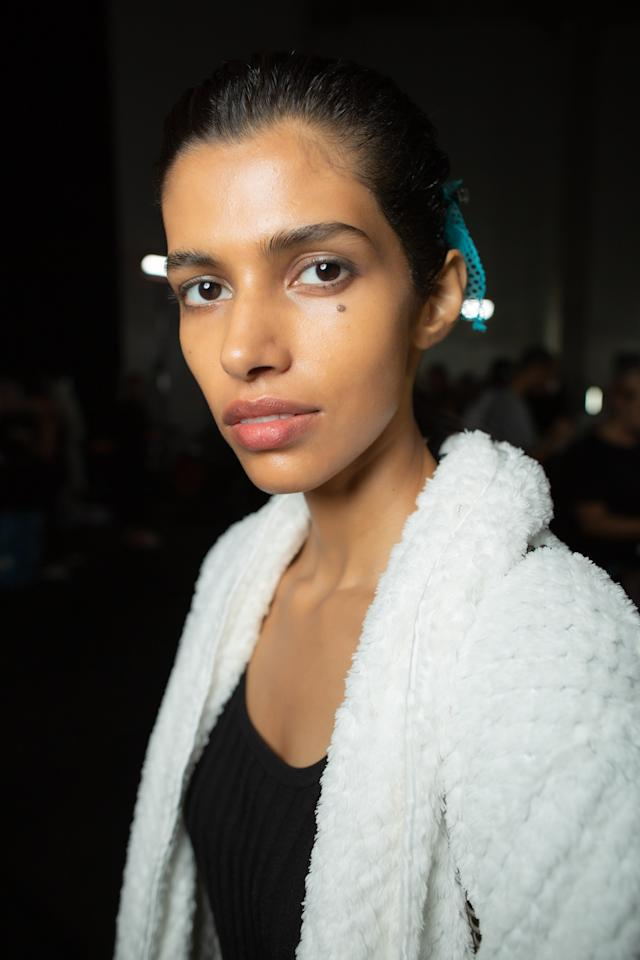 Backstage at the Christopher Kane SS20 show during London Fashion Week on Monday, September 16th, 2019. Photograph by Serichai Traipoom for W Magazine.