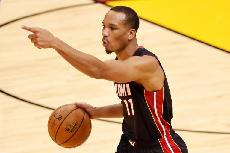 Avery Bradley was among a number of Miami players sidelined by Covid-19 health and safety protocols, forcing postpoment of the Heat's scheduled NBA game against the Boston Celtics
