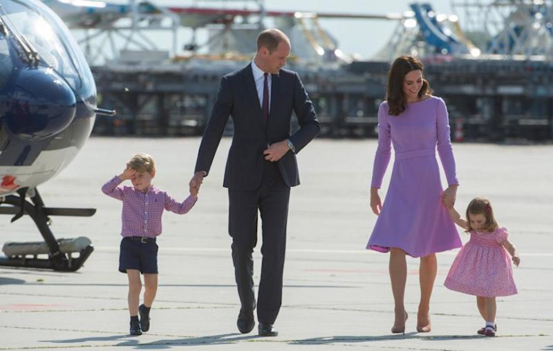 Wills and Kate are already parents to Prince George, 4, and Princess Charlotte, 2. The family are all pictured here together last year. Source: Getty