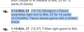 Not often you see this scoring notation for an NFL game. (NFL.com)