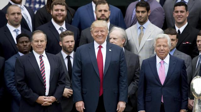 The New England Patriots issued a clarification after a photo comparison of team photos with President Obama and President Trump highlighted the amount of no-show players for the White House visit.