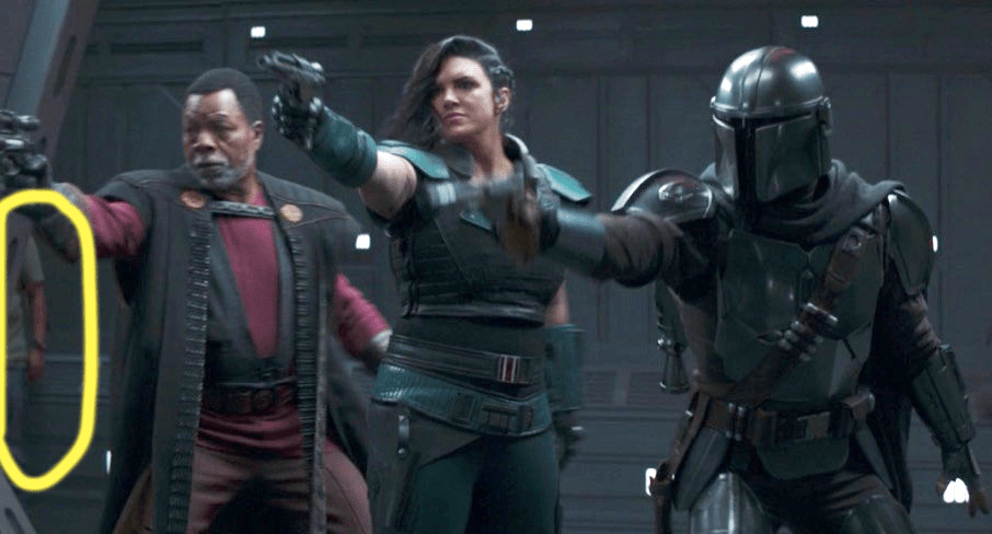The Mandalorian goof shows man in jeans